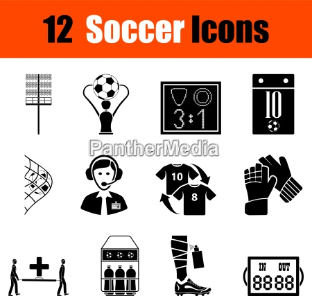 set, di, icone, di, calcio - 16623280