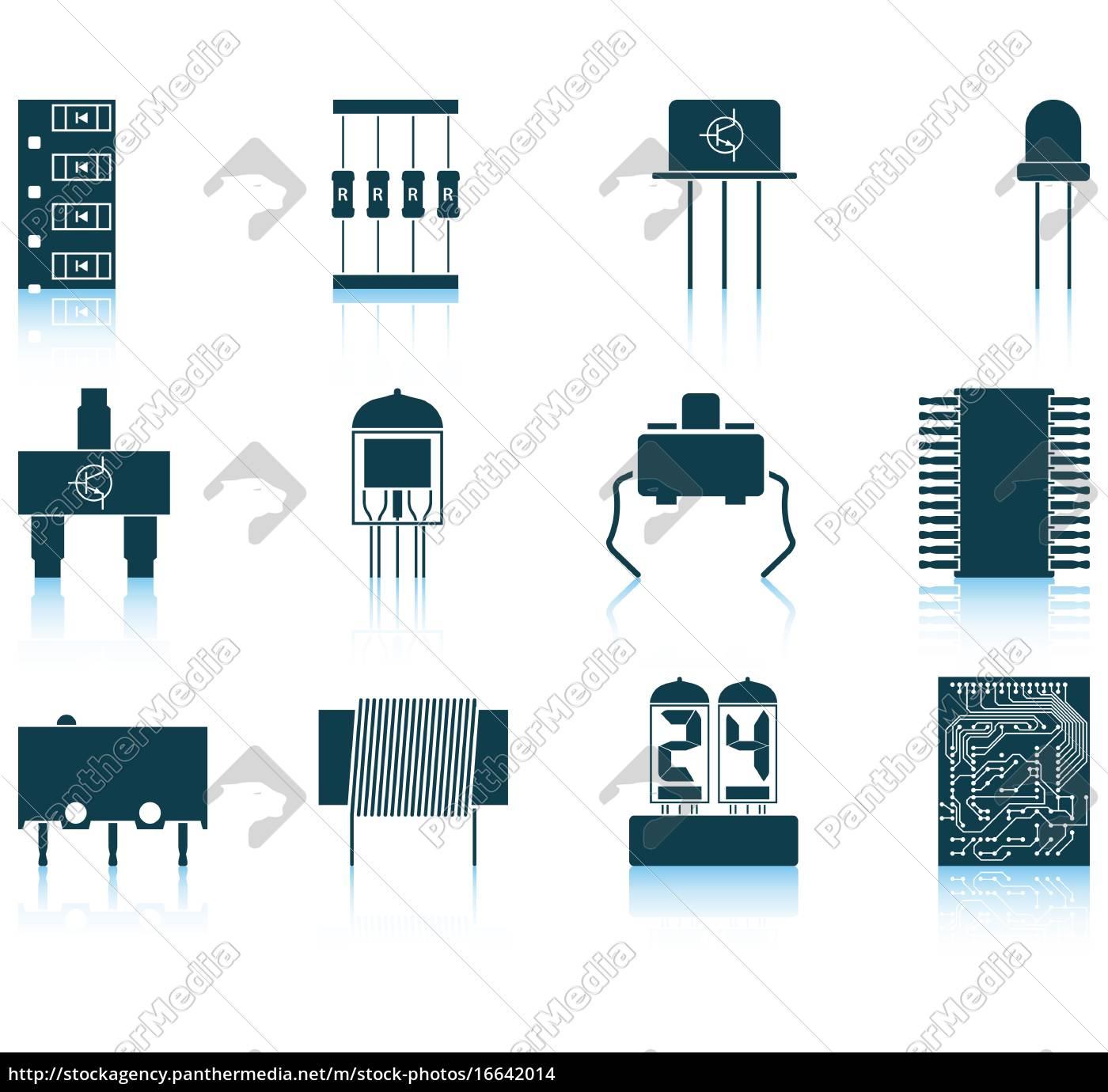 set, di, icone, di, componenti, elettronici - 16642014