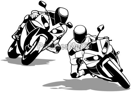 ciclista motociclista autista guidatore bicicletta motocicletta