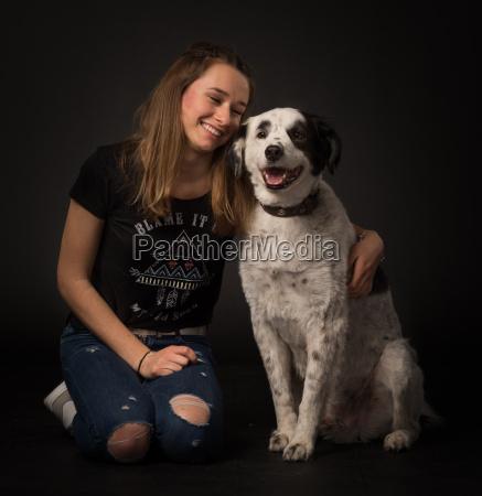dog embrace love of animals put