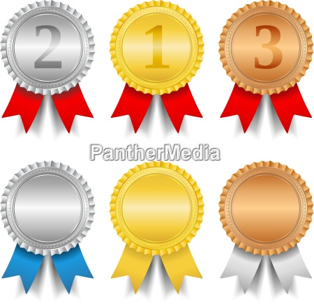 argento vincitore medaglia onorificenza bronzo