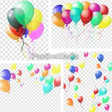 palloncini colorati trasparenti