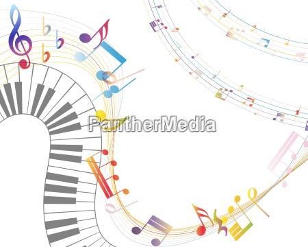 musica suono musicale nota astratto firmare