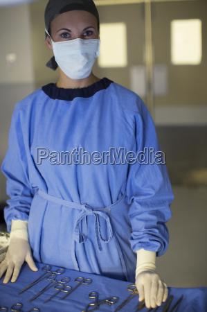 dottore medico blu ritratto ospedale clinica