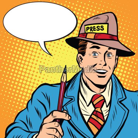 retro giornalista positiva intervista il rapporto