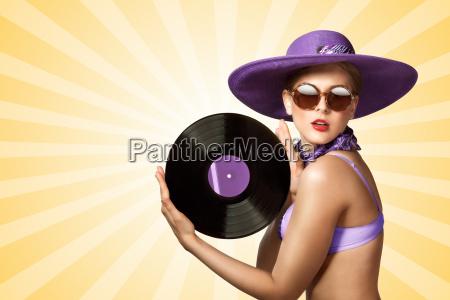 musica moda annata disco vinile vendemmia