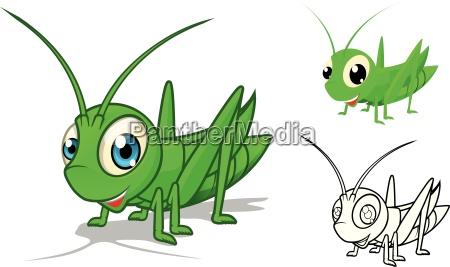 arte insetto cavalletta profilo contorno carattere