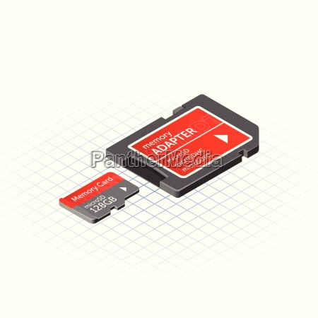 isometric memory micro secure digital with