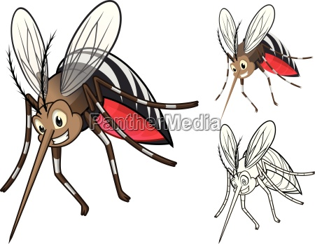 arte profilo contorno carattere silhouette zanzara