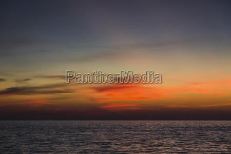 thailand sunset over andaman sea