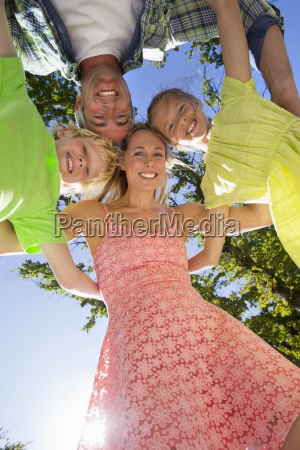 portrait of a family in a