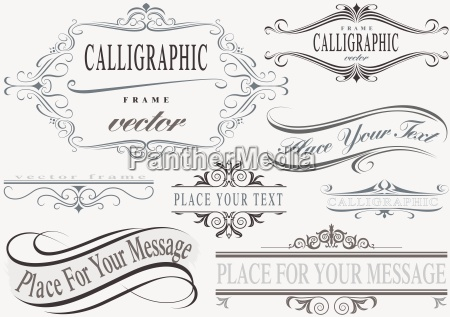 frame set calligrafico