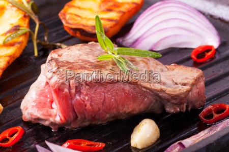 bistecca in padella di ferro