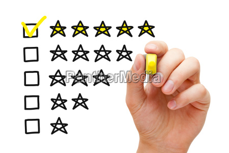 five star rating concept