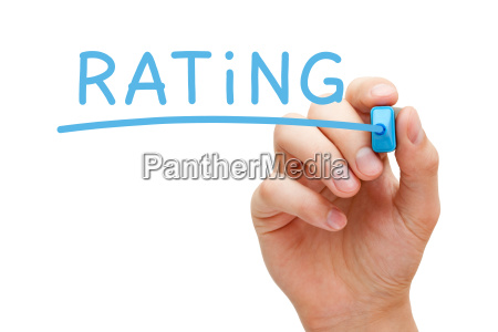 rating blue marker