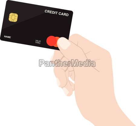 close up hand holding credit card