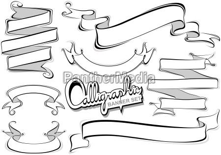 collezione di banner calligrafici