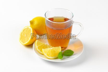 cup of tea with lemon