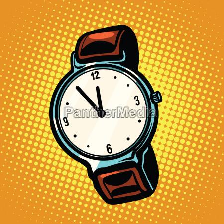 orologio da polso retro con cinturino