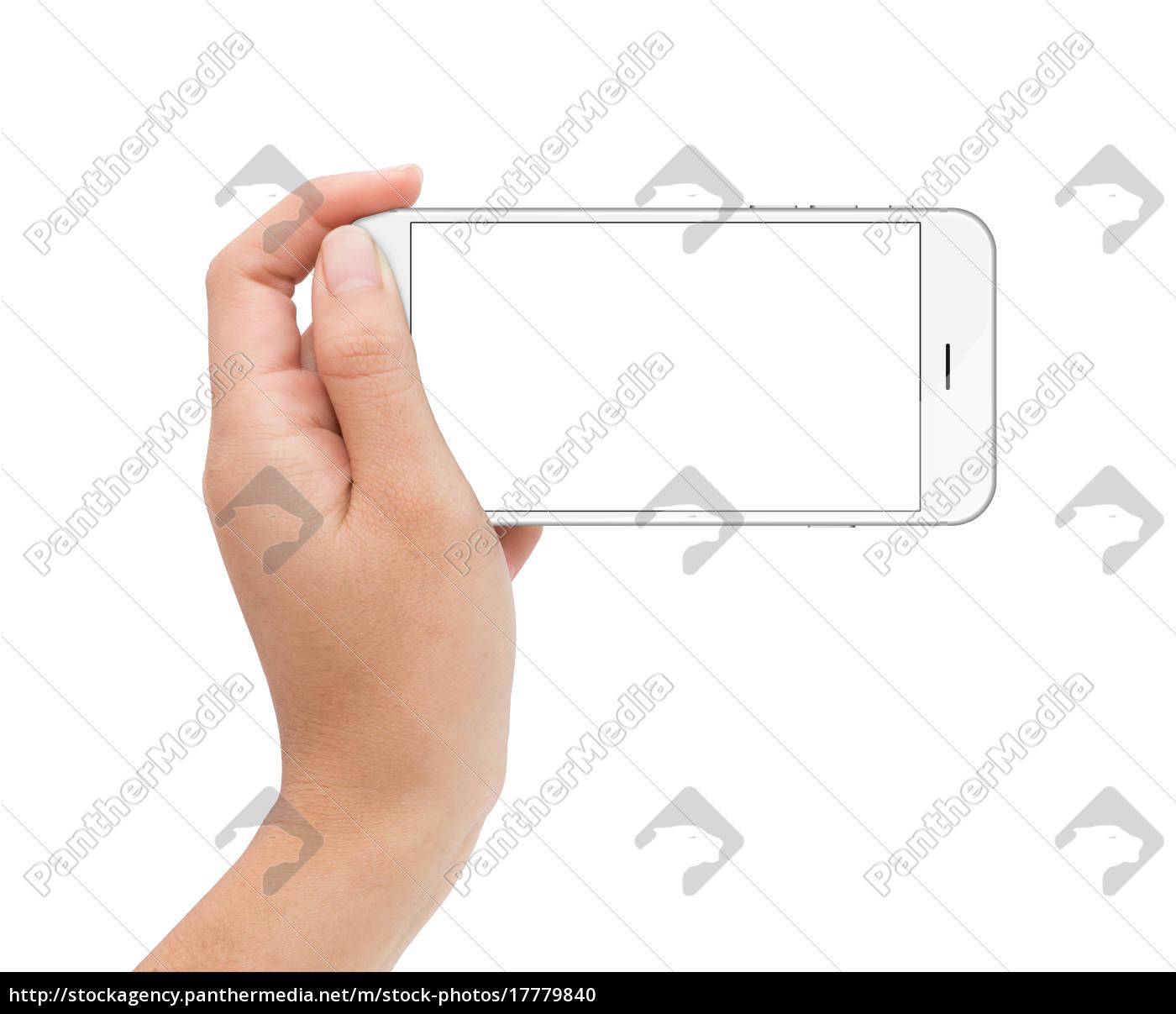 mano, femminile, tenendo, il, telefono, schermo - 17779840