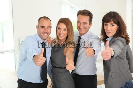 team di business di successo che