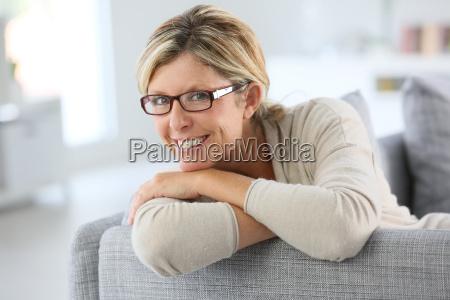portrait of mature woman wearing eyeglasses
