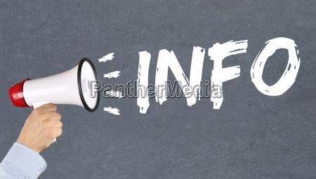 informazioni informazioni informazione notizie news concept
