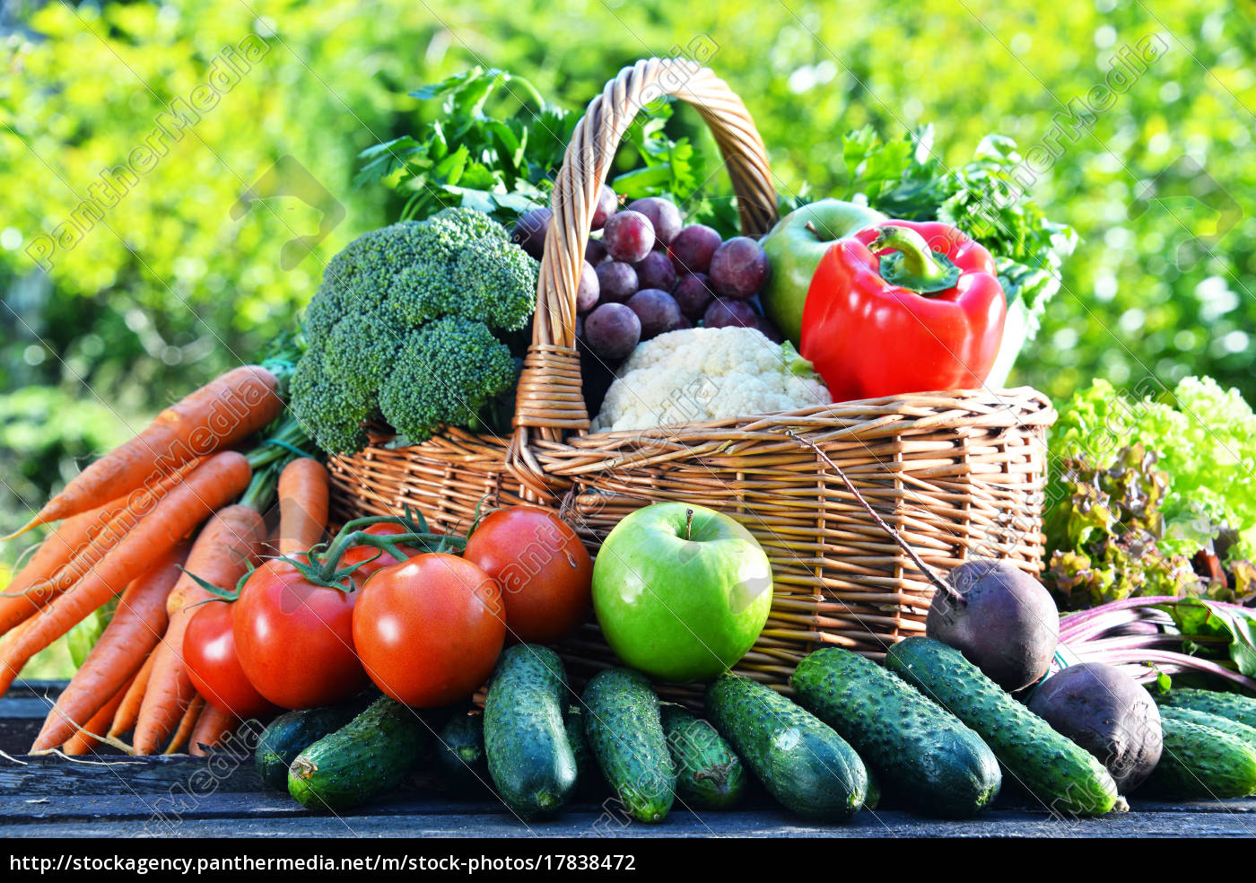 variety, of, fresh, organic, vegetables, and - 17838472