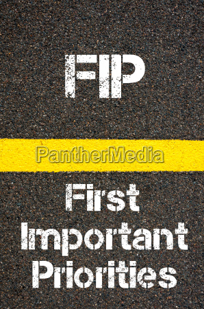 business acronym fip first important priorities