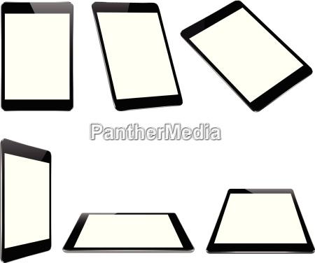 vector design mock up black tablet