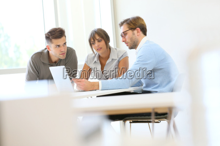business people working together in meeting