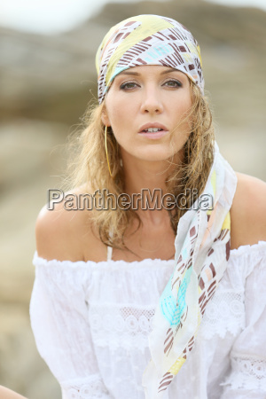 portrait of attractive woman with gypsy