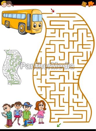 educazione illustrazione labirinto fumetto cartone animato