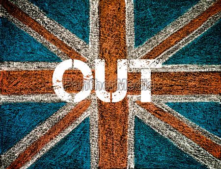 concetto brexit sulla bandiera british union