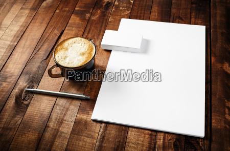 oggetti educazione legno ufficio annata tazzina