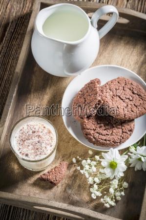 cibo interno dolce annata biscotto latte