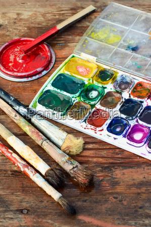 strumento attrezzo arte colore strumenti spazzola
