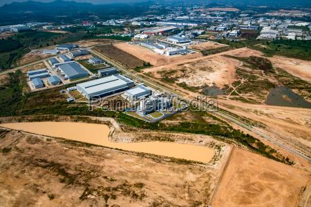 citta industriale asia sopra guardare osservare