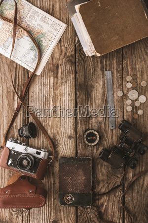 set of things for travel on