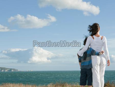donna viaggio viaggiare ambiente nuvola figlio
