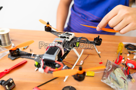 flying drone installation at home