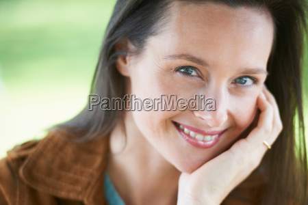 close, up, of, smiling, woman - 18208394