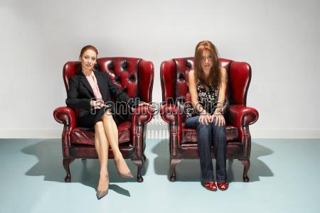 imprenditrice e donna scogliata