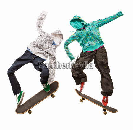 invisible skateboarders jumping