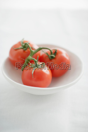 close up of plate of tomatoes