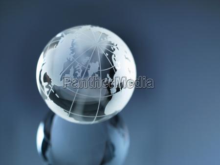 globo di vetro che illustra nord