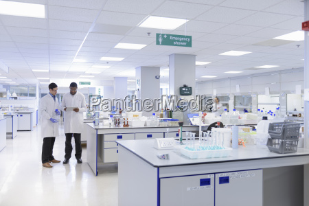 scientists working in testing laboratory wide
