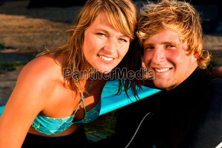 couple sitting together smiling