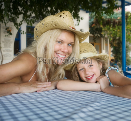 woman with young girl at an