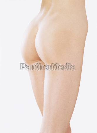rear view of a nude model